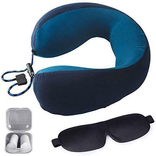 memory foam travel neck pillow with washable