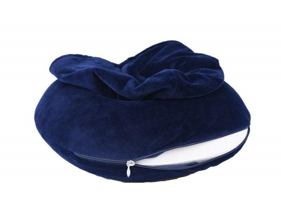 Memory Foam Warm U Neck Navy Blue