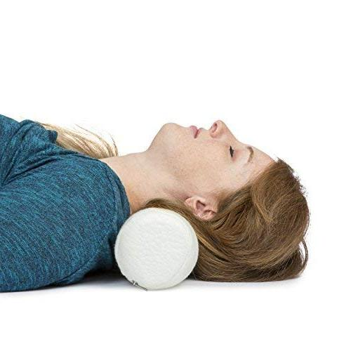 """Ka Ua Neck Roll Pillow Bolster with Bamboo Cover Memory Foam Spondylosis Support 4"""" x 18 """"Length, inches"""