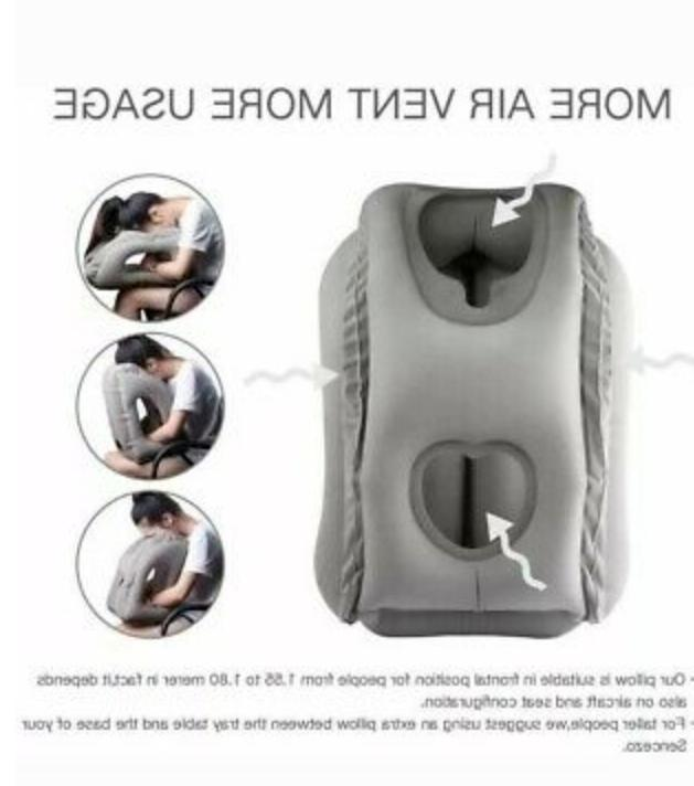 New Inflatable Pillow used Gray