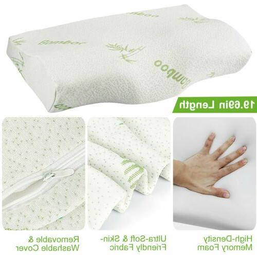 Orthopedic Sleep Pillow Cervical Support Bamboo