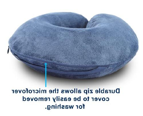 A that Provides Optimum Comfort and Support Pal and Cover Eliminate Neck Pain in Cars, Sleeping Home