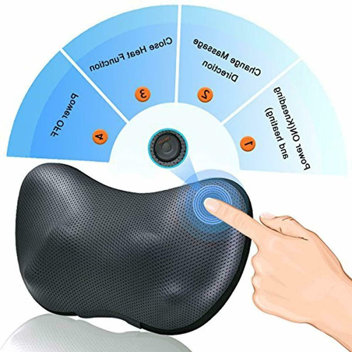 Shiatsu Neck Back Massage Pillow -Gifts Men/Women/Mom
