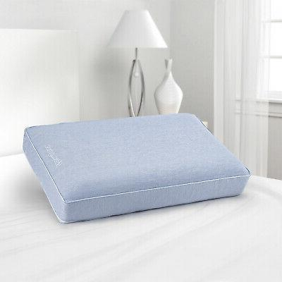 silver aquacool memory foam pillow and removable