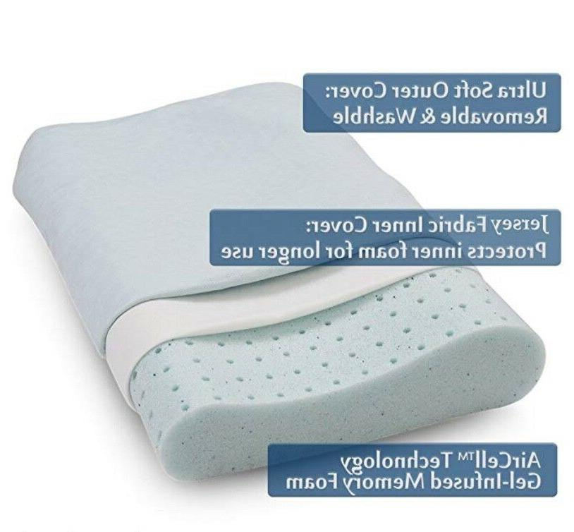 Cr Sleep Foam Contour Pillow for Pain Gel-infused