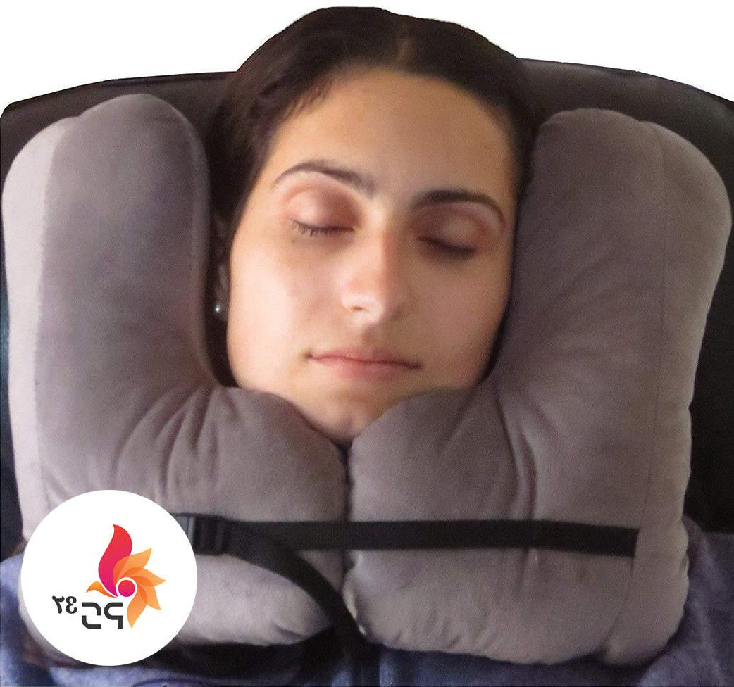 snug travel pillow two l shaped fiber