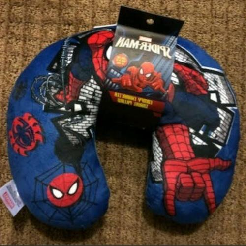 spider man comfy character neck pillow airplane