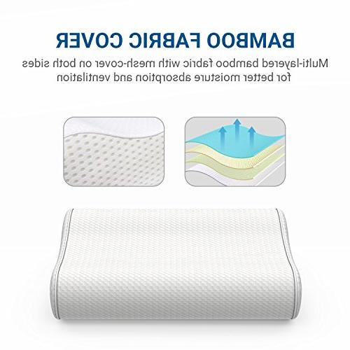 UTTU Adjustable Memory Foam Pillow for Cervical Pillow for Neck Neck for Stomach, Sleepers, Orthopedic Contour Pillow, CertiPUR-US