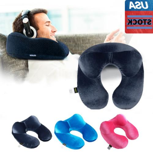 Foldable U shaped Neck Support Pillow Inflatable Cushion Air