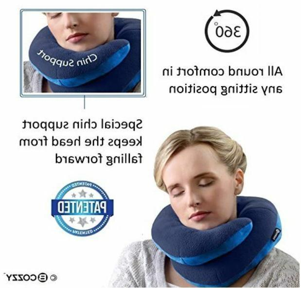 Travel Pillow that Supports the Head, Chin Easy Care