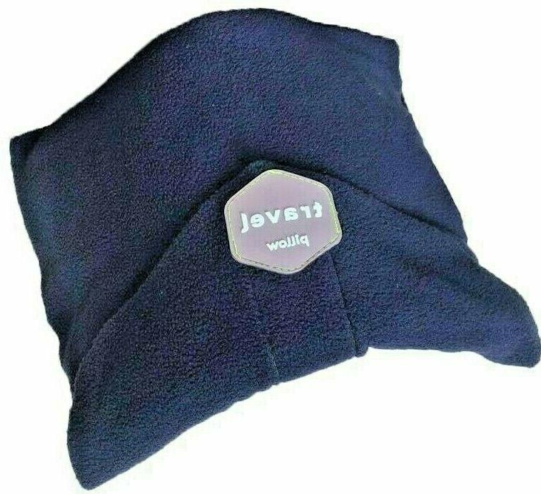 travel pillow unisex neck support wrap navy