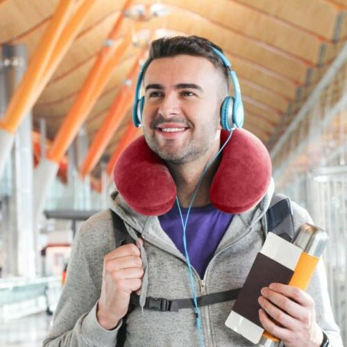 U-Shaped Memory Foam Rebound Travel Neck Head Rest Airplane