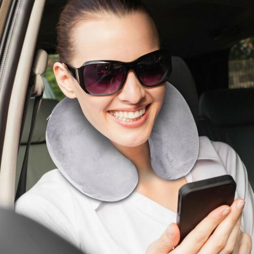 U-Shaped Memory Foam Travel Pillow Head Airplane