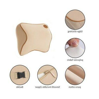 Soft Seat Pad Memory Foam Pillow Head Rest Support Cushion