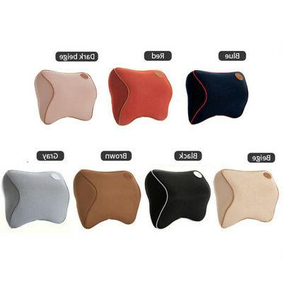 Soft Car Seat Pad Memory Pillow Head Neck Rest Support Cushion