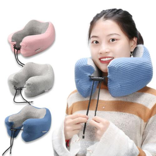 US Shaped Travel Pillow Neck Support Head Cushion