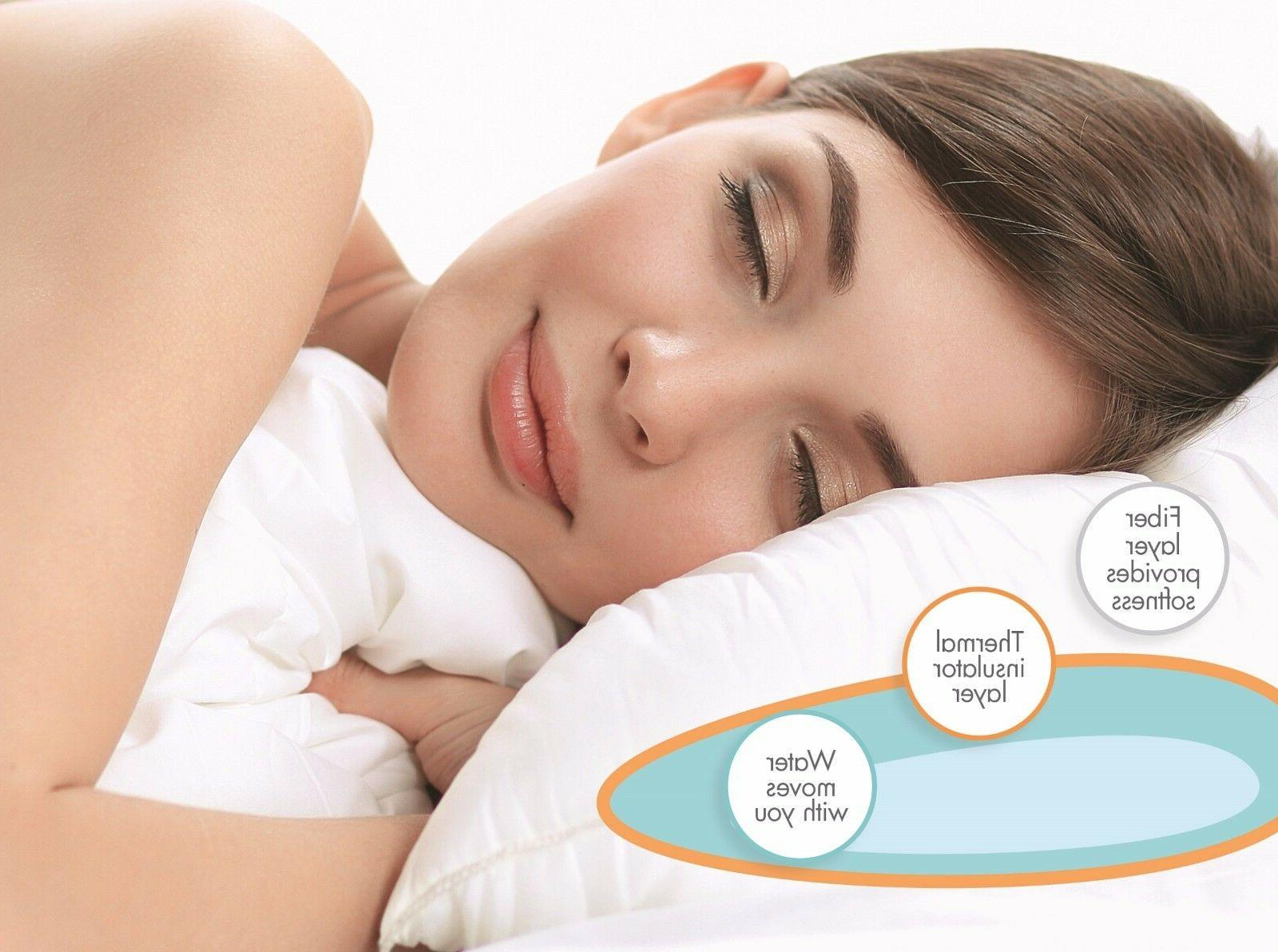 Water Pillow Sleep Comfort  Neck Pain Relief White Super  hy