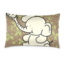 La Random Baby Elephant Rectangular Bed Throw Pillow Case Co