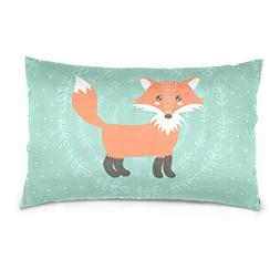 La Random Baby Shower Fox Rectangular Bed Throw Pillow Case