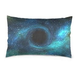 La Random Black Hole Rectangular Throw Pillow Case Decorativ