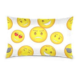 La Random Cute Funny Emoji Emotions Rectangular Bed Throw Pi