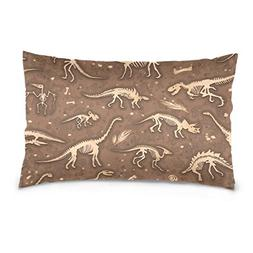 La Random Dinosaurs Fossils Rectangular Bed Throw Pillowcase
