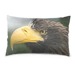 La Random Eagle Head Rectangular Bed Throw Pillowcase Cushio