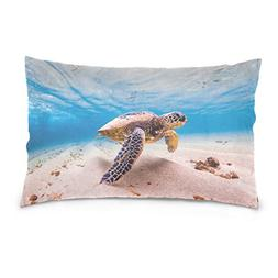 La Random Endangered Hawaiian Green Rectangular Throw Pillow