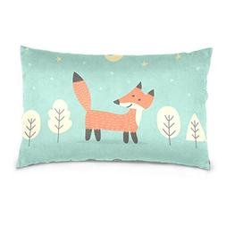 La Random Hello Baby Fox Rectangular Bed Throw Pillow Case C