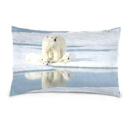 La Random Mother Bear With Two Cubs Rectangular Throw Pillow