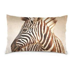 La Random Portrait Of Baby Zebra Rectangular Bed Throw Pillo