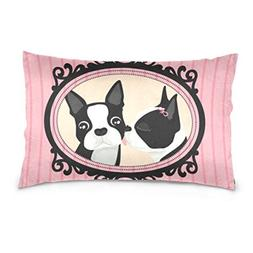 La Random Two Puppy In Love Rectangular Throw Pillow Case De