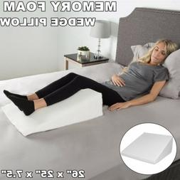Large Wedge Pregnancy Pillow Foam Elevate Support Back Neck