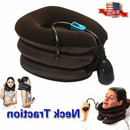 Massager Neck Brace Support Cervical Collar Air Traction The