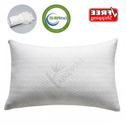 LANGRIA Memory Foam Bamboo Pillow Breathable Hypoallergenic