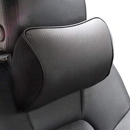 Memory Foam Car Neck Pillow Soft Leather Headrest for Drivin