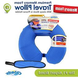 Cloudz - Memory Foam Travel Neck Pillow Sleep Mask: Sporty B
