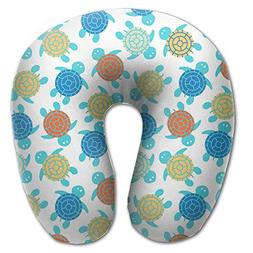 SARA NELL Memory Foam Neck Pillow Cartoon Colorful Turtles U