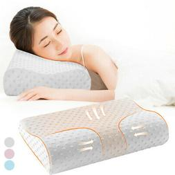 US SALE Bamboo Cervical Pillow for Neck Pain Support and Bac