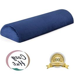 Cozy Hut Memory Foam Semi Roll Pillow Half Moon Bolster Knee