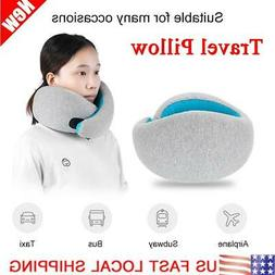 Memory Foam U Shaped Travel Pillow+Bag Neck Support Head Res