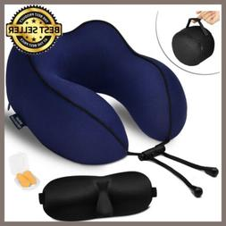 Memory Foam U-shaped Travel Pillow Neck Support Head Rest Ai