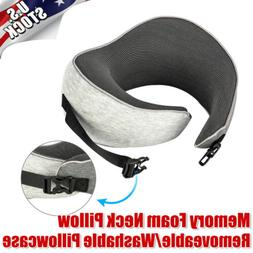 Memory Foam U Shaped Travel Pillow Neck Support Head Rest fo