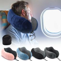 Memory Foam U Shaped Travel Pillow Soft Neck Support Headres