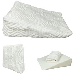 Memory Foam Wedge Pillow Bed Back Lumbar Neck Support Comfor