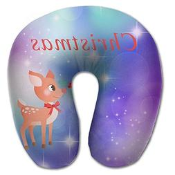 Merry Christmas Comfortable U Type Pillow Neck Pillow Travel