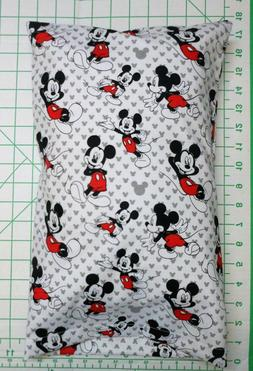 Mickey Mouse on white and gray -  Small Pillow Case & Travel