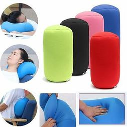 Microbead Back Cushion Micro Roll Throw Pillow Travel House