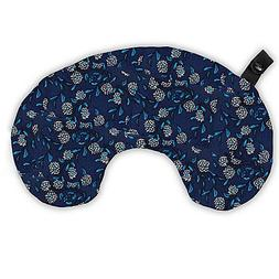 Bucky Minnie Compact Round Neck Pillow in Wood Cut Print