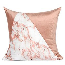 "Miss Lapin Pink and Pink Marble Two Color Pillow Cover 18""X1"